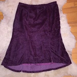 apostrophe Crushed Velvet Skirt
